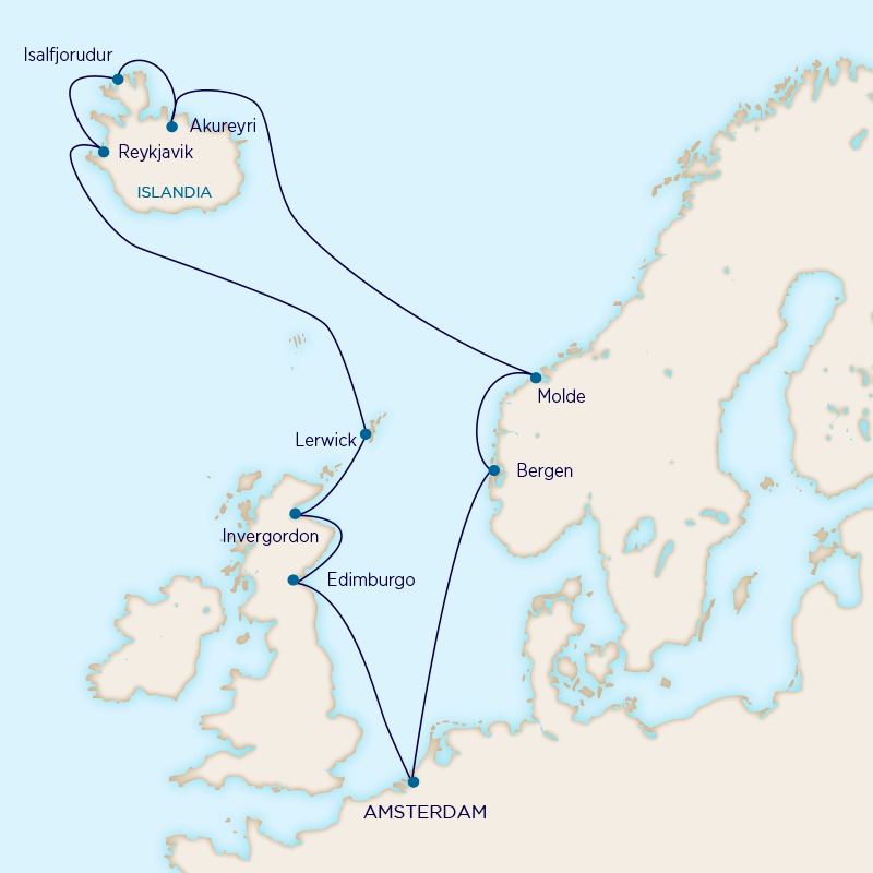 Holland America - Islas del Norte