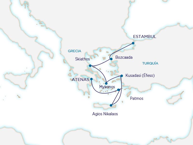Seabourn Mediterráneo - Atenas Estambul