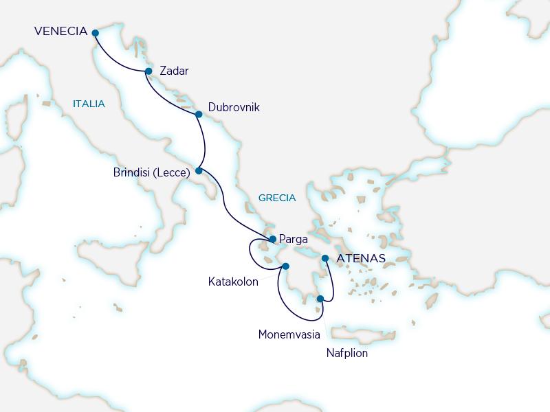 Seabourn Mediterráneo - Atenas Venecia