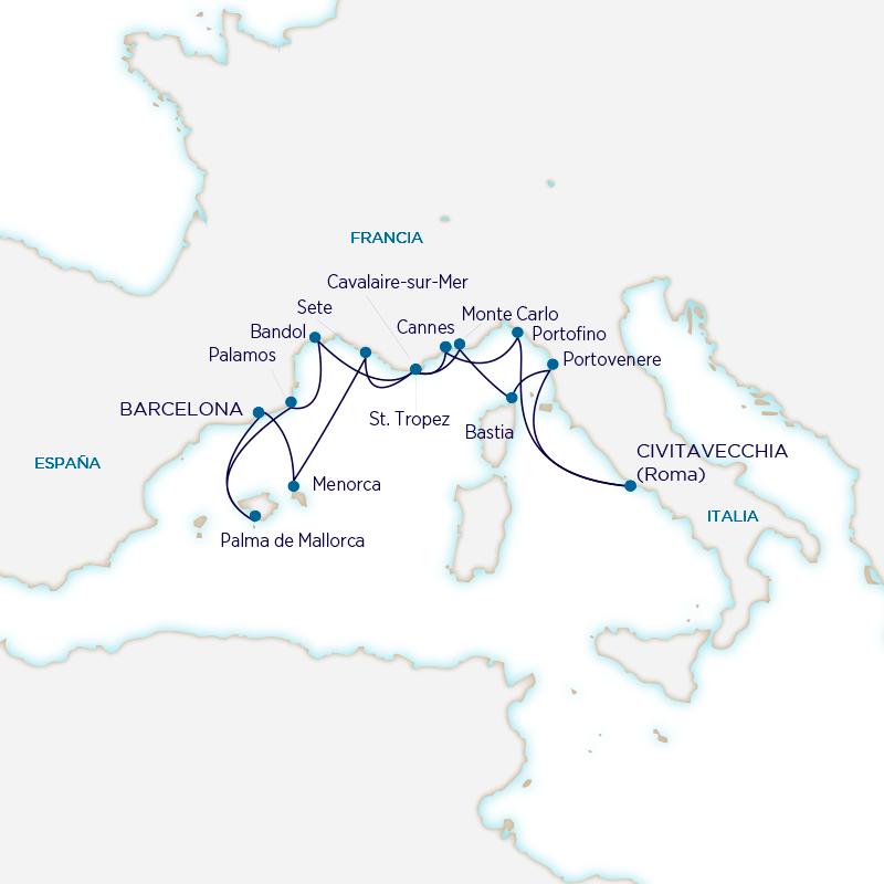 Seabourn Mediterráneo - Barcelona Roma