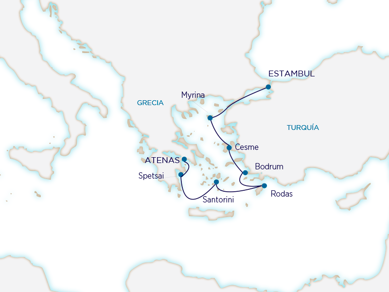 Seabourn Mediterráneo - Estambul a Atenas