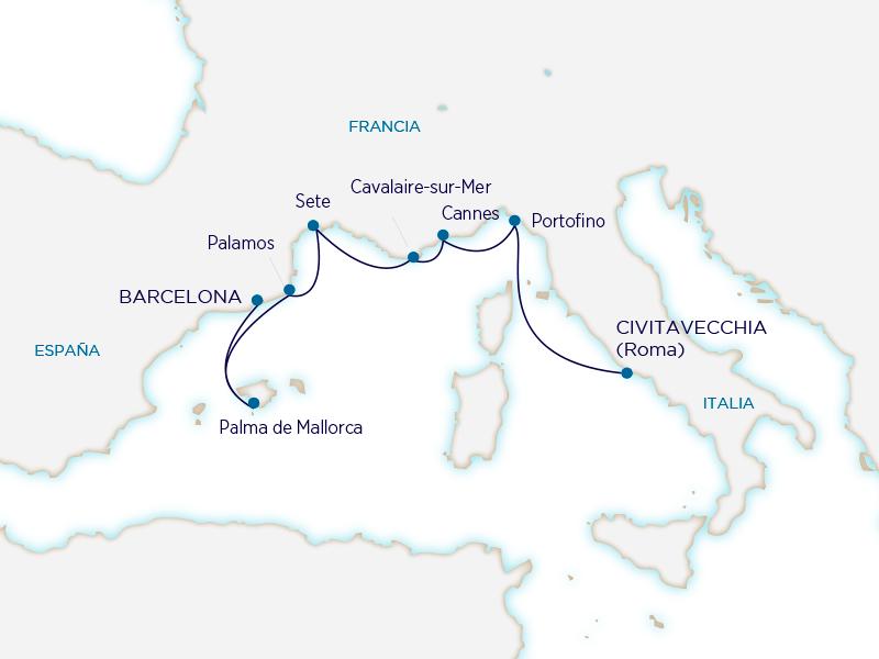 Seabourn Mediterráneo - Roma Barcelona