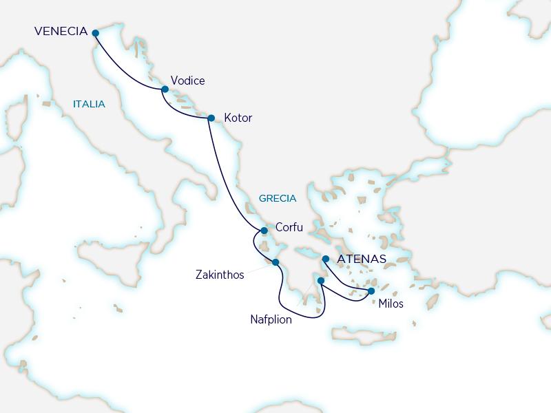 Seabourn Mediterráneo - Venecia Atenas
