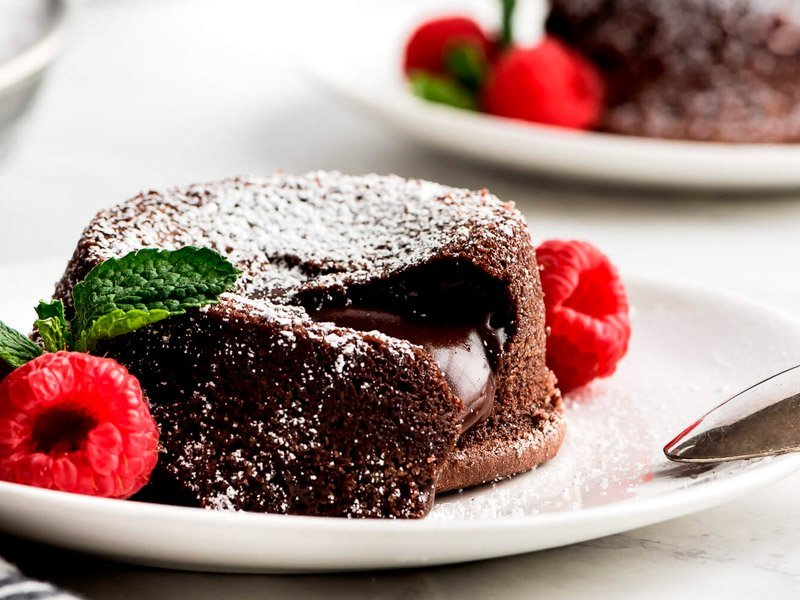 Mini bolos de chocolate